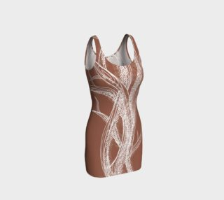 Sketchy branches dress - peach preview