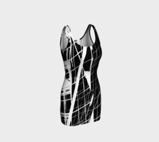 B&W Architecture Bodycon Dress preview