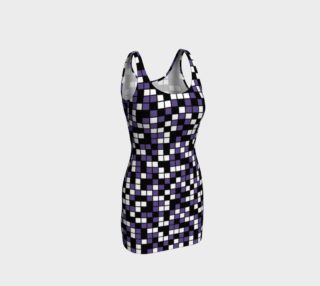 Aperçu de Ultra Violet Purple, Black, and White Random Mosaic Squares