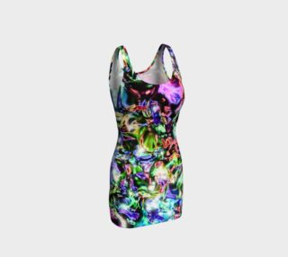 Sparkly Rainbow Liquid Metal Bodycon Dress preview