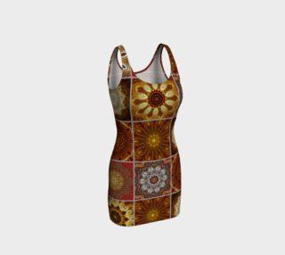 Golden Thai Crazy Quilt Bodycon Dress preview