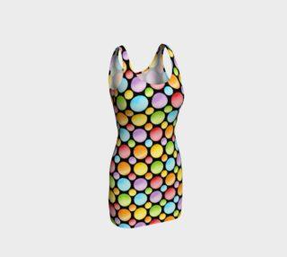 Aperçu de Rainbow Polka Dots Bodycon allover