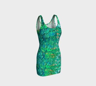 Large Mermaid-Scale Green Fitted Dress preview