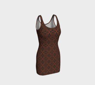 Fire Maze Tile BodyCon Dress preview