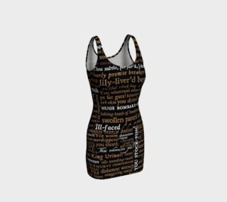 Shakespeare Insults Collection Bodycon Dress preview