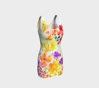Victoria Blooms Bodycon Dress by Deloresart preview