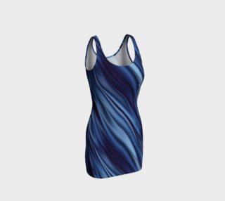 Indigo blue shaded stripes preview