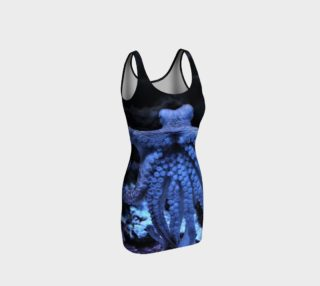 Dark Octopus Black Light Wiggle Dress  preview