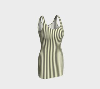 GREY & LINEN STRIPE BODYCON DRESS preview