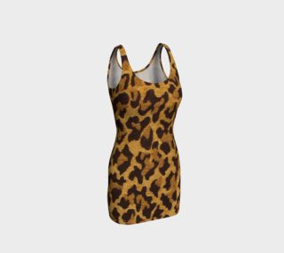 Brown and Gold Leopard Print Fitted Dress preview