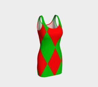 Christmas Harlequin Diamond Bodycon Dress preview