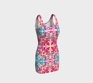 Pink and Blue Kaleidoscope Bodycon Dress preview