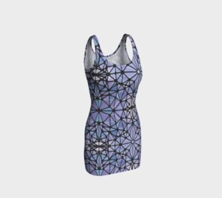 Purple and Blue Kaleidoscope Bodycon Dress preview