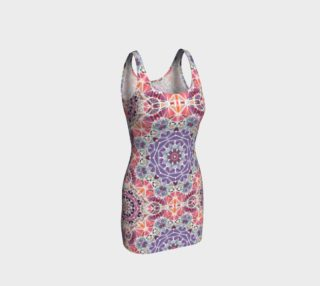 Purple and Pink Kaleidoscope Bodycon Dress preview