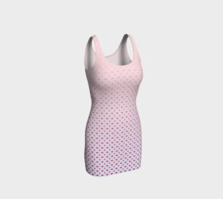 Pink gradient heart raindrop bodycon dress preview