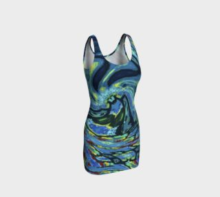 Lady Nighthawk Wave Crash Bodycon preview