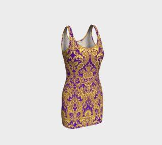 Aperçu de damask in purple and golden