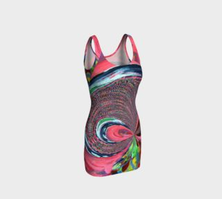 Aperçu de Mini-Spun-Bow Print Bodycon