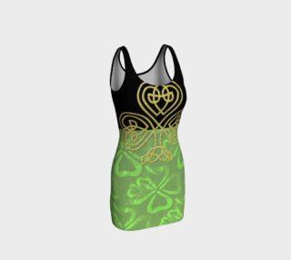 Aperçu de Green Skirt Celtic Shamrock bodycon dress