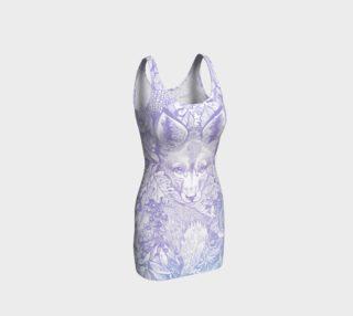 pastel purple hiding fox preview