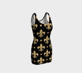 Black & Gold Saints Fleur De Lis WHODAT New Orleans Louisiana preview