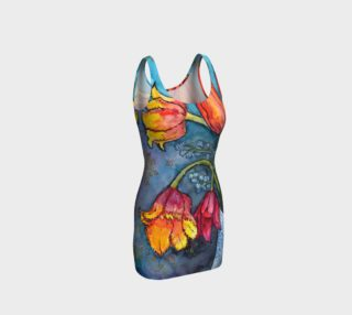 Watercolor Tulips - Bodycon Dress preview