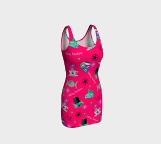 WK #ModernWitchLife Pink Print Bodycon Dress preview
