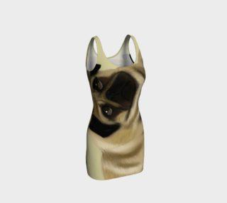 Pug Love Bodycon Dress preview