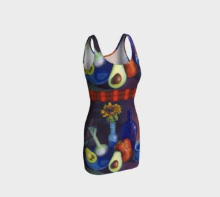 Avocado & Red Pepper Bodycon Dress preview