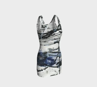 Black, White, and Blue Bodycon Dress preview