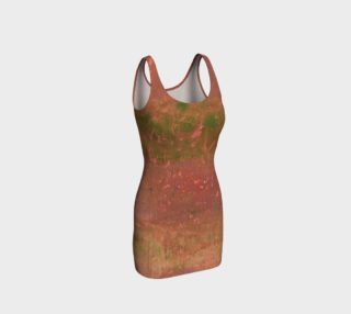 Green and Coral Bodycon Dress preview