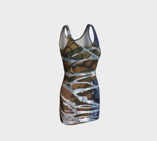 Asemic with Blue Bodycon Dress preview