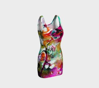 Pink Butterfly Bodycon Dress preview