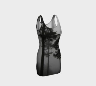 Foggy trees fitted dress preview