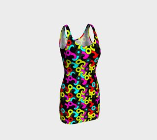 Florescent Retro Pattern Bodycon Dress  preview
