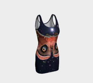 Aperçu de Stellar Polyphemus Moth Bodycon Dress