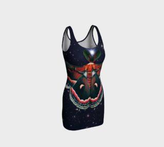 Aperçu de Stellar Cecropia Moth Bodycon Dress