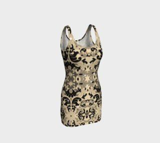 Black Glitter Lace Print Dress by Tabz Jones  preview