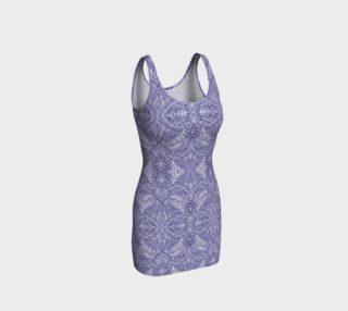 Blue Lace Vintage Print by Tabz Jones  preview