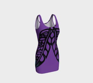 Black Raven & Eagle Feathers on Purple, by Mia Hunt preview