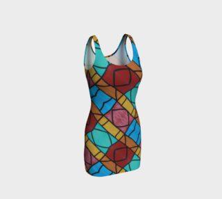 Pueblo Diamond Mosaic Bodycon Dress II preview