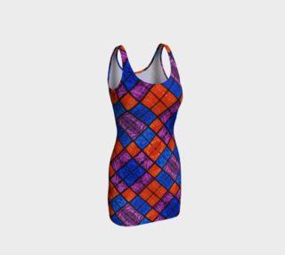Checkerboard Mosaic Bodycon Dress II preview