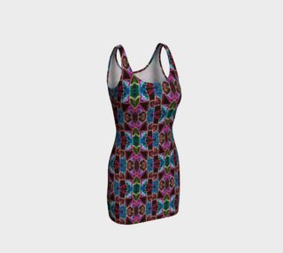 Corinthian Rose Stained Glass Bodycon Dress preview