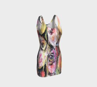 Battle of roses bodycon dress preview