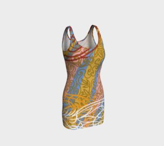 Painted Curve Hugging Dress preview