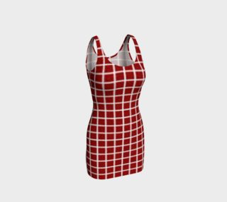 Checkered Red Bodycon Dress by JoJo (1170004-B) preview