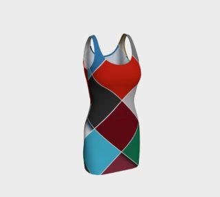 Checkered Past Bodycon Dress by JoJo (1170003-B) preview