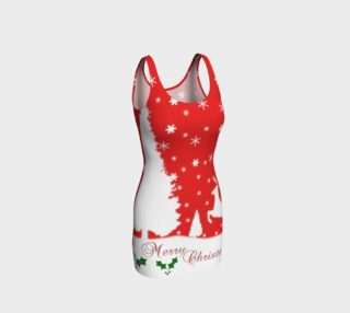 Aperçu de Merry Christmas Winter Snowflakes Bodycon Dress