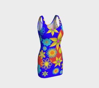 Flower Max Color Curve Hugging Dress preview