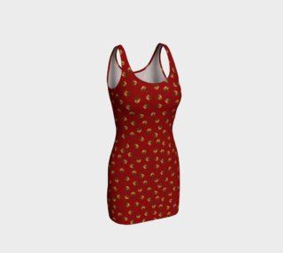 Acorns Pattern-Sangria Bodycon Dress preview